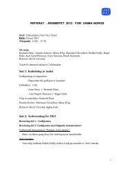 REFERAT - årsmøtet 2012 - Unima