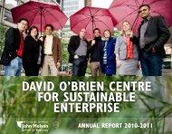david o'brien centre for sustainable enterprise - Paul Shrivastava