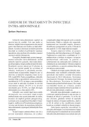 Ghiduri de tratament in infectiile intra-abdominale