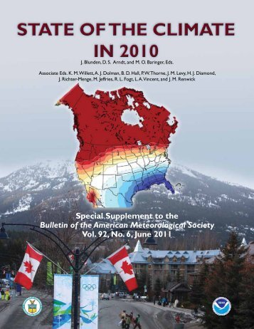 STATe OF THe CLIMATe In 2010 - National Climatic Data Center ...