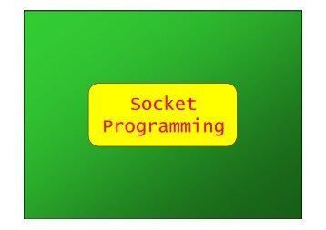 Socket Programming - Università di Palermo