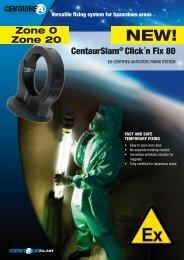 CentaurSlam® Click´n Fix 80 Zone 0 Zone 20 - Safeexit A/S