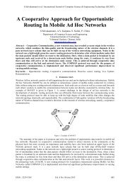 A Cooperative Approach for Opportunistic Routing In ... - IJCSET