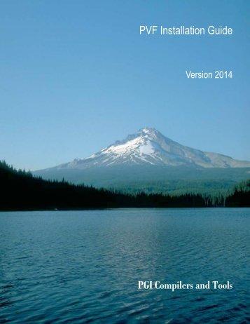 PGI Visual Fortran Installation Guide - The Portland Group