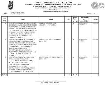 INFORMES MARZO 2008.pdf - biblioteca upibi