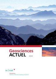 Geoscience ACTUEL 4/2009 - Platform Geosciences - SCNAT