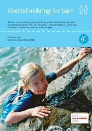 Barneidrettsforsikring - Norges idrettsforbund