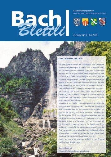 Ausgabe Nr. 9 | Juli 2009 - schwellenkorporationen.ch