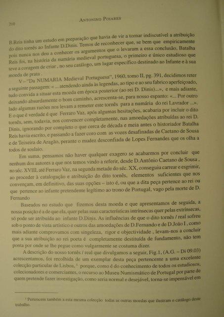 O Tornes do Infante e não do Rei - Antonino Poiares.pdf - Numismatas