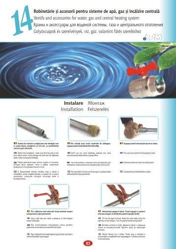 Robinetărie şi accesorii pentru sisteme de apă, gaz şi încălzire ...