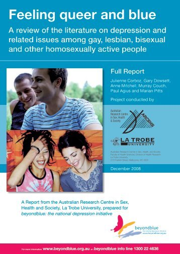 Feeling queer and blue - Gay and Lesbian Health Victoria