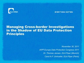 Managing Cross-border Investigations in the Shadow of EU Data ...