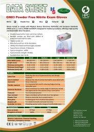 GN83 Powder Free Nitrile Exam Gloves - Dencor