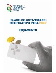 Plano de Actividades Rectificativo para 2008 e Orçamento Pág. 1