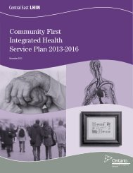 Community First Integrated Health Service Plan 2013-2016