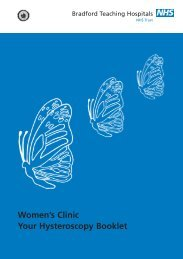 Hysteroscopy Booklet - Bradford Teaching Hospitals NHS ...