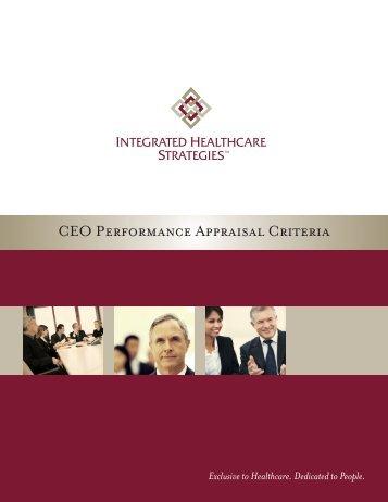 CEO Performance Appraisal Criteria