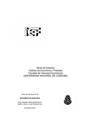 Información bancaria - Instituto de Economía y Finanzas ...