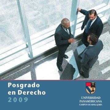 Posgrado en Derecho 2009 - Universidad Panamericana