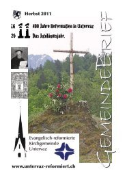 GB Uv 2011 - Reformierte Kirchgemeinde Untervaz