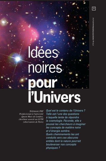 Idées noires pour l'Univers - Palais de la découverte