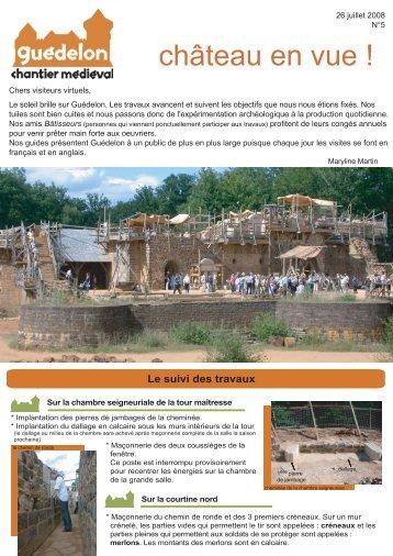 """Château en vue !"" N°5 (PDF - 440 Ko) - Guédelon"
