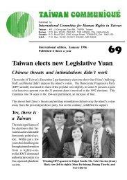 Taiwan elects new Legislative Yuan