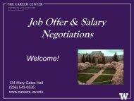 Job Offer & Salary Negotiations - The Career Center of the ...