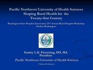 Pacific Northwest University of Health Sciences - Washington State ...
