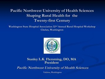 Pacific Northwest University of Health Sciences - Washington State ...