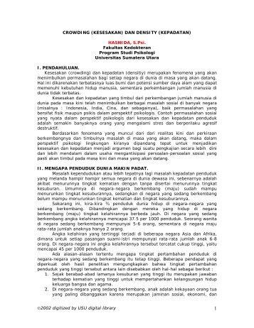kepadatan - USU Library - Universitas Sumatera Utara