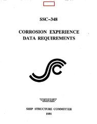 ssc-348 corrosion experience . data requirements - Ship Structure ...