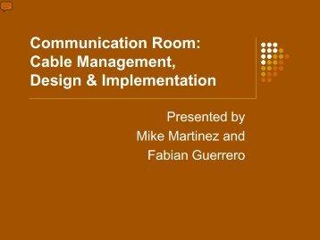 Communication Room: Cable Management Design & Implementation