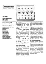 100 MHz pulse generator PM 5770 - Helmut Singer Elektronik
