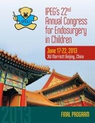 2013 final program and abstract book - International Pediatric ...