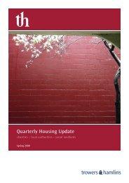 Quarterly Housing Update Spring 2008 - Trowers & Hamlins