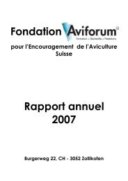 Fondation Rapport annuel 2007 - Aviforum