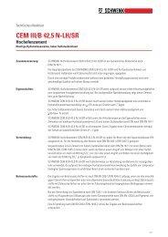 CEM III/B 42,5 N-LH/SR - SCHWENK Zement KG