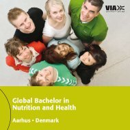 Global Bachelor in Nutrition and Health - VIA University College