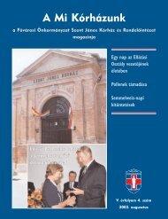 A Mi Kórházunk: 2003. augusztus (V/4) - Szent János Kórház