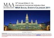 maa social events calendar 2011 - the Moot Alumni Association