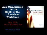 New Commission on the Skills of the American Workforce - ETS
