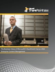 The Business Value of Microsoft SharePoint Server 2010 ... - Socius