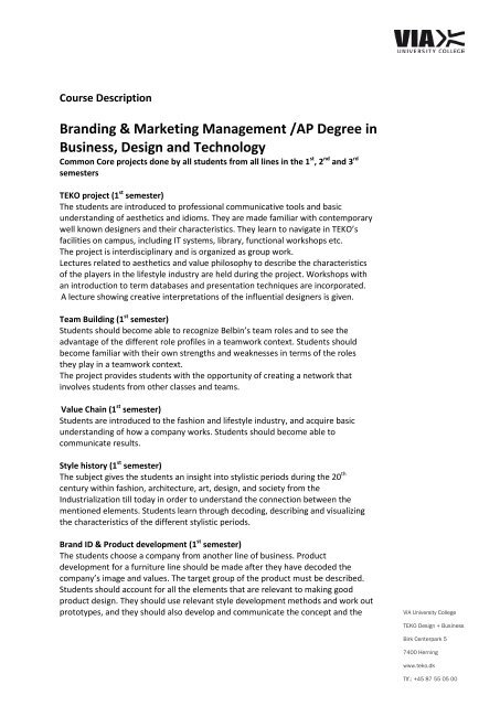 Branding and Marketing Management - pdf - VIA University College