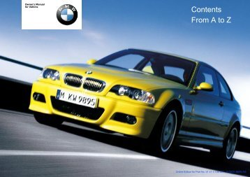 Online Edition for Part No. 01 41 0 156 237 - © 09/01 BMW AG