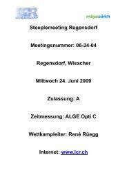 Resultate Steeple - zürich-athletics