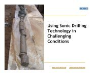 Using Sonic Drilling Technology in Challenging ... - Sonic Drilling Ltd.