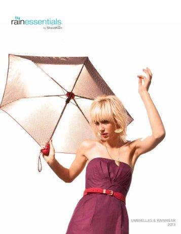 UMBRELLAS & RAINWEAR 2013 - ShedRain