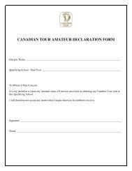CANADIAN TOUR AMATEUR DECLARATION FORM - Esports Desk