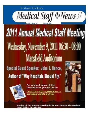 October 2011 Newsletter.pub - St. Vincent Healthcare